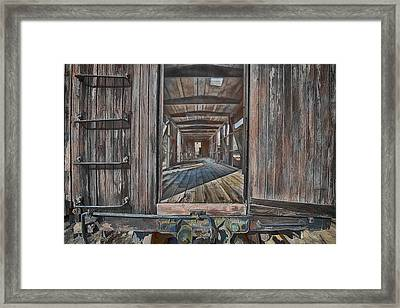 Retired Train Car Jamestown Framed Print