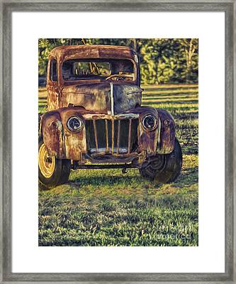 Retired Wrecker Framed Print