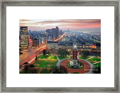 Framed Print featuring the photograph Retiro Buenos Aires by Bernardo Galmarini