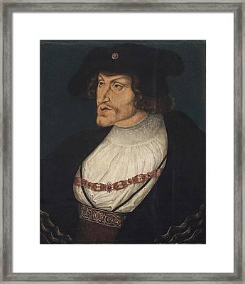 Retrato Del Emperador Carlos Framed Print by MotionAge Designs