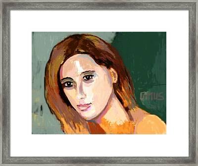 Retrato Patricia Framed Print by Carlos Camus