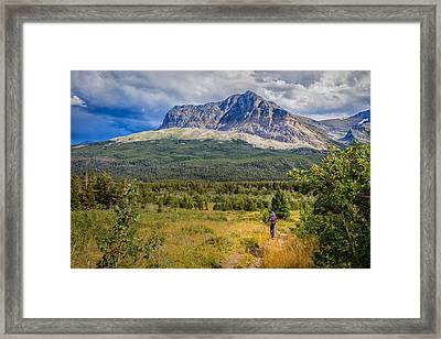 Retreating From The Storm Framed Print