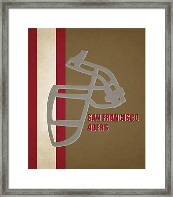 Retro 49ers Art Framed Print