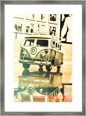 Retro 60s Toy Van Framed Print by Jorgo Photography - Wall Art Gallery