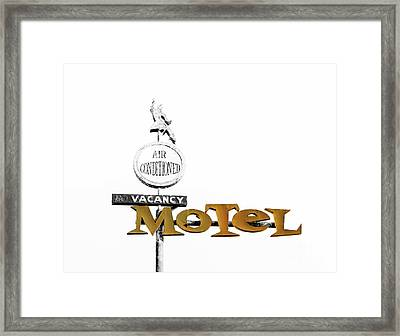 Retro American Motel Framed Print by Mindy Sommers