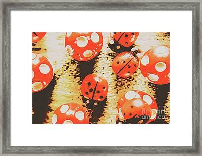 Retro Art Bug Framed Print