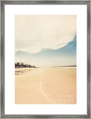 Retro Beach Landscape Taken Bribie Island  Framed Print by Jorgo Photography - Wall Art Gallery
