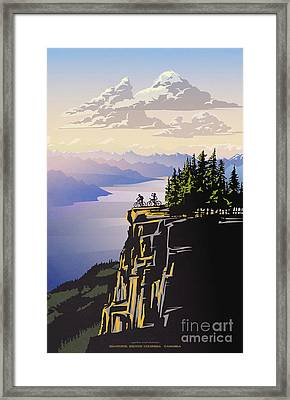 Retro Beautiful Bc Travel Poster Framed Print