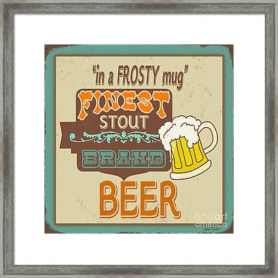 Retro Beer Sign-jp2917 Framed Print by Jean Plout
