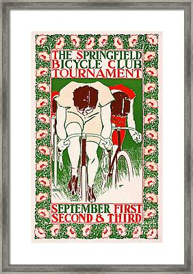 Framed Print featuring the photograph Retro Bicycle Poster 1895 by Padre Art