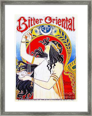 Retro Bitters Ad 1897 Framed Print by Padre Art