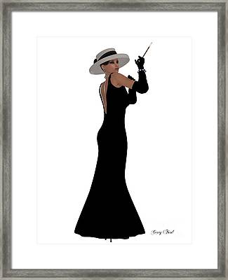 Retro Black Dress Framed Print by Corey Ford