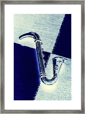 Retro Blues Framed Print