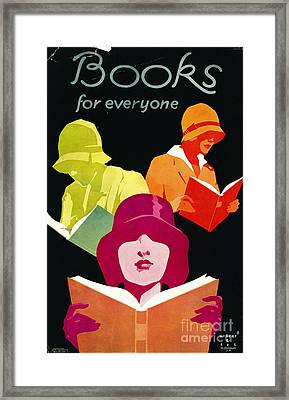 Framed Print featuring the photograph Retro Books Poster 1929 by Padre Art