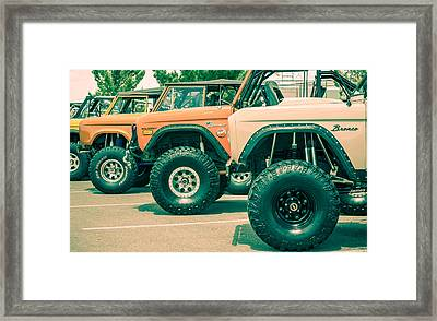 Retro Bronco Heaven Framed Print