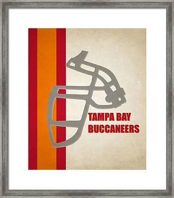Retro Buccaneers Art Framed Print by Joe Hamilton