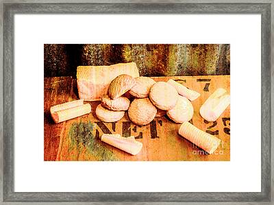 Retro Butter Shortbread Wall Artwork Framed Print