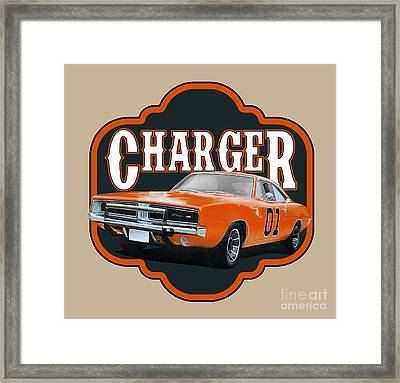 Retro Charger Framed Print by Paul Kuras
