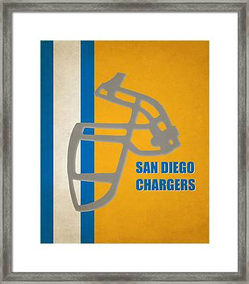 Retro Chargers Art Framed Print