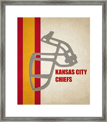 Retro Chiefs Art Framed Print by Joe Hamilton