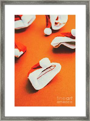 Retro Christmas Hats Framed Print by Jorgo Photography - Wall Art Gallery