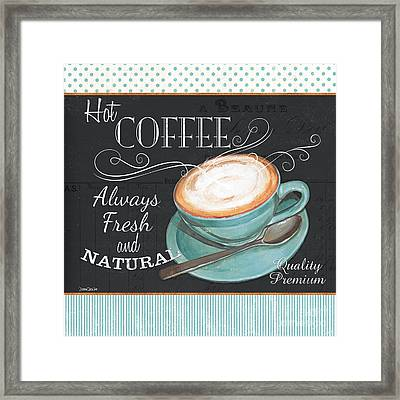 Retro Coffee 1 Framed Print by Debbie DeWitt