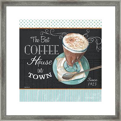 Retro Coffee 2 Framed Print by Debbie DeWitt