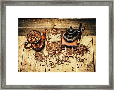 Retro Coffee Bean Mill Framed Print