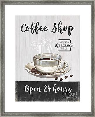 Framed Print featuring the painting Retro Coffee Shop 1 by Debbie DeWitt