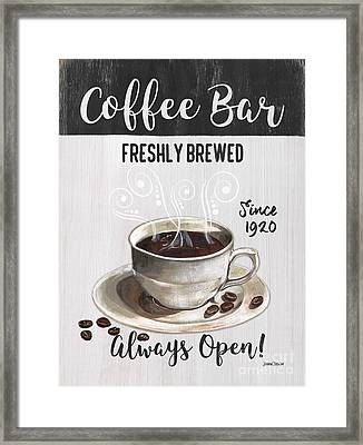 Retro Coffee Shop 2 Framed Print