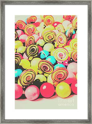 Retro Confectionery Framed Print