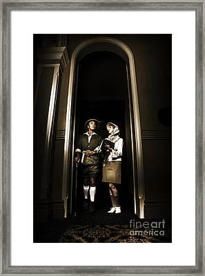 Retro Couple On Safari Framed Print by Jorgo Photography - Wall Art Gallery
