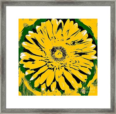 Retro Daisy Framed Print by Marsha Heiken