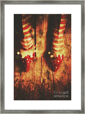 Retro Elf Toes Framed Print