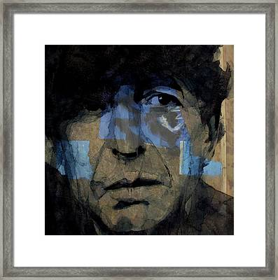 Retro- Famous Blue Raincoat  Framed Print by Paul Lovering