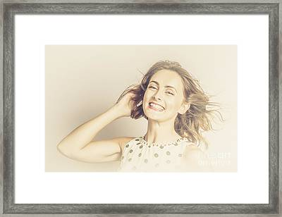 Retro Fashion Pin-up Model Framed Print