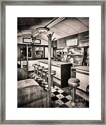 Retro Fifties Diner Framed Print