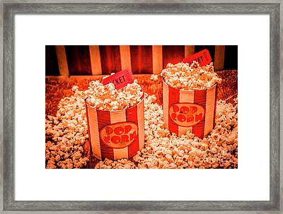 Retro Film And Entertainment Scene Framed Print
