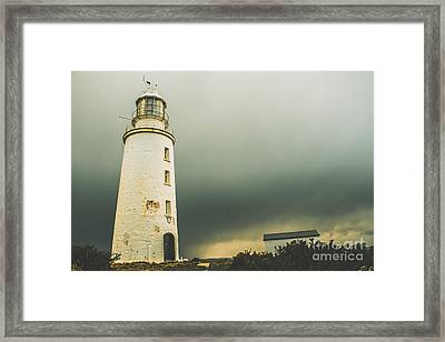 Retro Filtered Lighthouse Framed Print by Jorgo Photography - Wall Art Gallery