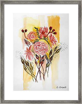 Retro Florals Framed Print by Carol Crisafi