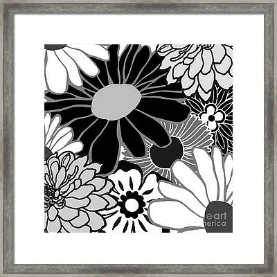 Retro Flowers Framed Print by Mindy Sommers