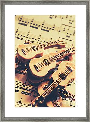 Retro Folk And Blues Framed Print