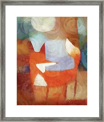 Retro Fox Framed Print by Lutz Baar