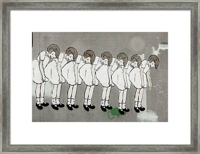 Framed Print featuring the photograph Retro Girl by Art Block Collections