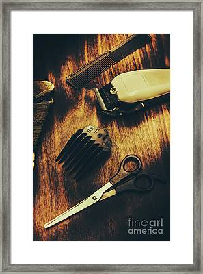 Retro Hairdressing Objects Framed Print by Jorgo Photography - Wall Art Gallery