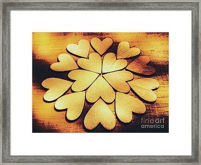 Retro Heart Connection Framed Print