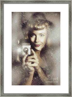 Retro Hollywood Fashion Photographer Framed Print by Jorgo Photography - Wall Art Gallery