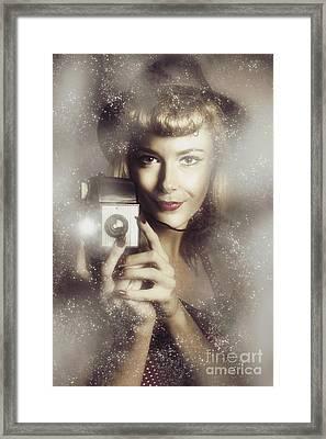 Retro Hollywood Fashion Photographer Framed Print