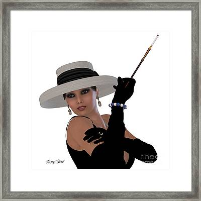 Retro Hollywood Glamour Framed Print by Corey Ford