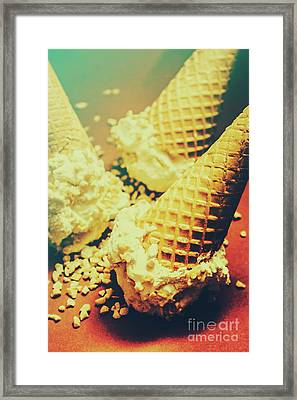 Retro Ice Cream Artwork Framed Print by Jorgo Photography - Wall Art Gallery